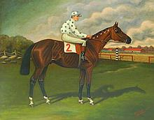 Jockey and Horse Painting, J.W. Johnson