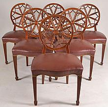 Set of Six Carved Back Chairs