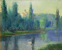 Vilajosana Oil on Canvas in Newcomb Macklin Frame