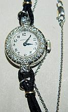 Hamilton Platinum & Diamond Ladies Wrist Watch