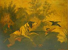 Giclee Hunting Scene Dated 1858