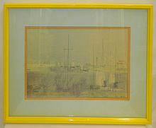Joe Jones Print of Boats