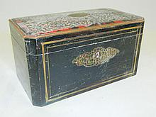 Boulle Tea Caddy with Inlaid Top
