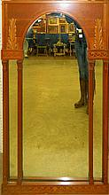 Mirror in Carved Frame with Column Design