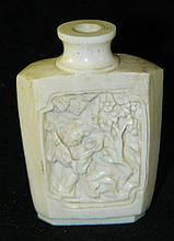 Ivory Snuff Bottle with Carving