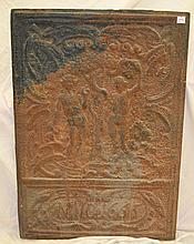 1665 Cast Iron Adam & Eve Fire Place Screen