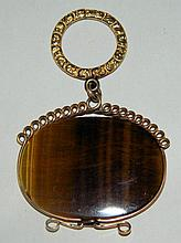 Gold Filled Fob with Tiger's Eye