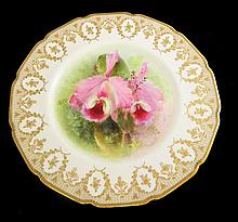 Royal Doulton Floral Plate Signed D. Dewsberry