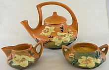 Roseville Magnolia Tea Pot, Cream & Sugar