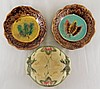 Group of 3 Majolica Plates