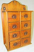 Wooden 8 Drawer Spice Cabinet