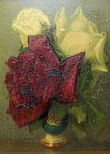 Klestova Oil on Board of Flowers
