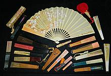 Grouping of 22 Handpainted Fans