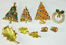 Grouping of Holiday Jewelry