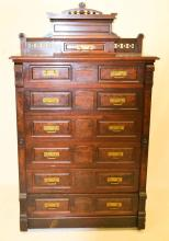 Victorian Lockside Chest Of Drawers