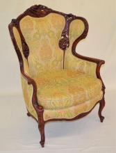 Ornately Carved Palror Arm Chair