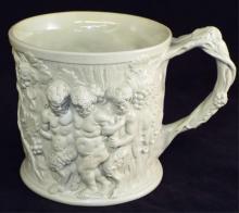 Figural Stoneware Mug