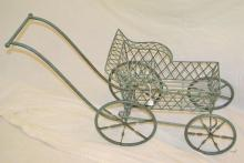 Toy Wrought Iron Baby Buggy