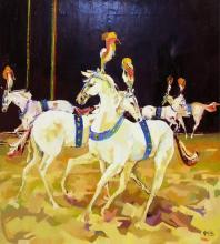 Marsha Gayle Oil On Canvas, Circus Prance