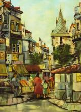 Charles R. Meyers Oil On Canvas City Scene