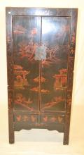 Two Drawer Wardrobe With Oriental Scene