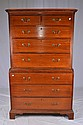 8 drawer chest on chest highboy