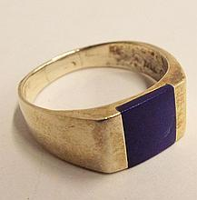 Sterling Silver And Blue Lapis Ring