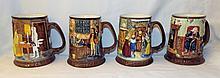 Set Of 4 Beswick Mugs
