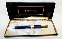 14k Gold Tip Shaeffer's Fountain Pen In Case