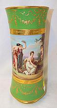 Hand Painted Porcelain Vase With Figural Scene