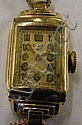 Ladies Elgin gold filled wrist watch & pin