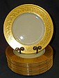 12 Lenox plates with gilt rim