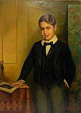 C. Kufferath oil on canvas portrait of boy