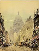 Falzni watercolor of city scene