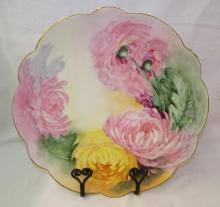 Artist Signed Limoges France Hand Painted Charger