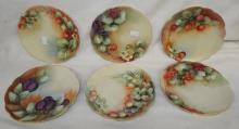 5 Hand Painted Porcelain Fruit Plates