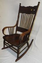 Spindle Pressed Back Rocking Chair