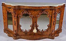 Rosewood marble top Petticoat Sideboard
