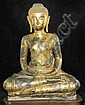 16-18th century Antique gilt bronze Buddha