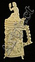 Ivory carved figural stein with lid