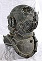 Antique 12 bolt bronze diver's helmet