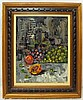 Morris Katz Oil on board Still Life of Fruit