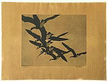 Richard Bishop Woodblock print