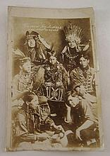 Postcard Of Tama Indians In Dress
