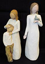Two Willow Tree Carved Figurines