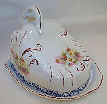 Porcelain Floral Cheese Dish