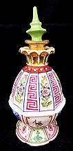 Oriental Hand Painted Porcelain Perfume