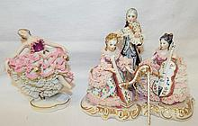 Porcelain Lace Figurines