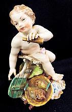 Porcelain Figurine Signed Hispania