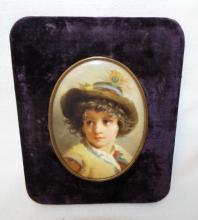 Hand Painted Portrait On Porcelain